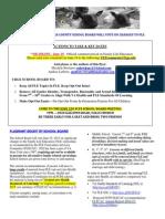 Fairfax County Public Schools Family Life Education Flyer