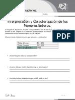 Ficha 1, Interpretación y Caracterización de Los Números Enteros