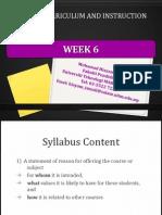 w6 syllabus