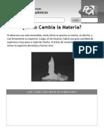 Ficha 12, Cambios Físico-químicos