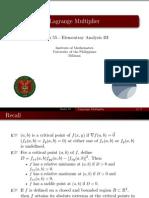 04 Lagrange Multiplier - Handout