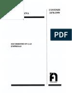 COVENIN 3478-1999 Socorrismo en Las Empresas