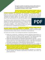 Fabricacion de Papel a Partir de Materias Primas Alternativas a Las Convencionales