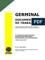 LA INTEGRACION REGIONAL- GUILLERMO ROJAS BRITEZ - N 21 JUNIO 2014 - PORTALGUARANI