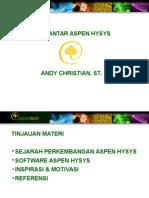 Pengantar Aspen Hysys