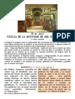 Vigilia de la Natividad de San Juan Bautista. 23 de junio