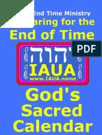 God's Sacred Calendar