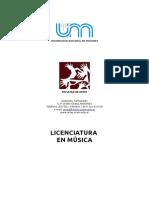 Licenciatura en Musica