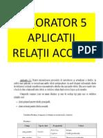 Laborator 5 - Aplicatii Relații Access