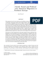 Back to the South Social and Political, Social and Political Aspects of Latin American Migration to Southern Europe