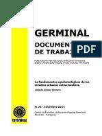 LA FUNDAMENTOS EPISTEMOLOGICOS - CELESTE GOMEZ ROMERO - N 22 SETIEMBRE 2014 - PORTALGUARANI