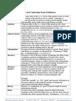 IELTS and Cambridge Exam Definitions.doc
