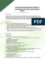 Cerificacion y Mediciones Con OTDR