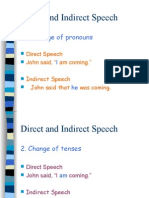 Direct and Indirect Speech - RULES