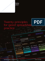 Twenty Principles for Good Spreadsheet Practice