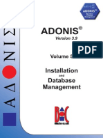 ADONIS 3.9 - Installation and Database Management