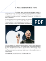 Case Study - A Phenomenon Called Steve Jobs