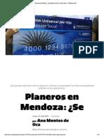 Planeros en Mendoza_ ¿Se Puede Vivir de La Ayuda Social_ - Mendoza Post