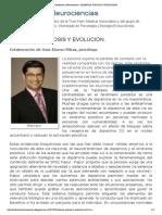Evolución y Neurociencias_ SALIENCIA, PSICOSIS Y EVOLUCIÓN_