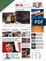 Capa de Jornal Online a Bola 22 Junho 2015
