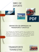 Diapositivas Turismo de Transporte