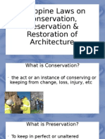 Philippine Law on Conservation , Preservation & restoration of Architecture