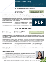 HSG Sydney Stress Management and Resiliency Workshop 26 June 2015