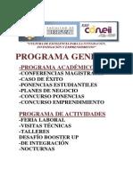 Resumen de Programa de Xxv Coneii