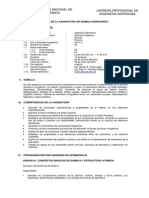Silabo Quimica Inorgánica-Agro 2014-II