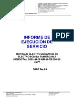 Informe de Ejecución de Servicio Los Portales