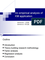 An Emperical Analysis of KM Application