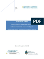 Directrices SNRD 2015