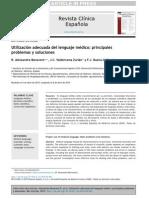Utilización adecuada del lenguaje médico- principales problemas y soluciones