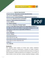 DCA-720 Tópicos selectos de poscosecha I