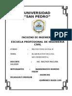 Caratula Proyeccion Social II