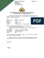 Contoh Surat Tanda Penerima Laporan Kehilangan Barang Model C 1