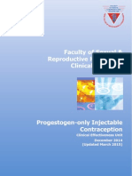 Progestogen-Only Injectable Contraception