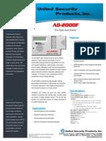 United Security AD2000F Data Sheet