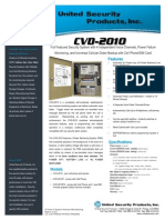 United Security CVD-2010 Data Sheet
