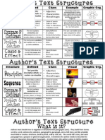 authors text structure anchor chart