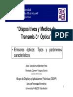 Modulo 1 Emisores Opticos Tipos y Parametros Caracteristicos