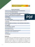 DCA-725 Tópicos selectos de inocuidad de productos hortícolas frescos y procesados