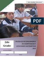Propuesta de Examen de Matematica 2º UGEL 03 Ccesa007