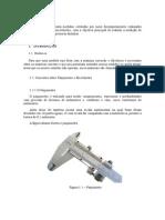 2° Relatório paquímetro e o micrômetro