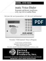 United Security AVD-4040-S User Manual
