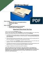 United Security EM-900 User Manual