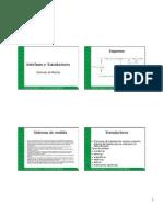 Interfases y transductores (Sistemas resistivos)