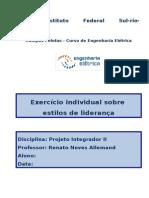 Exercício Individual Estilos de Liderança