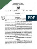 R.D. Nº 633 - Conformar Comité CAS - Sede