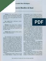 El Proyecto Filosófico de Kant - Arnoldo Mora Rodríguez